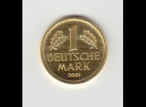 Goldmünze Goldmark 1 Deutsche Mark 2001 zum Abschied von der Deutschen Mark