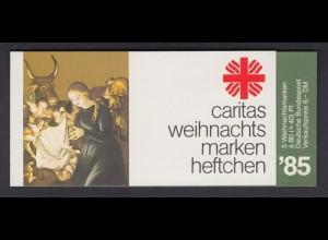 Bund Caritas Weihnachten Markenheftchen 5x 1267 80+ 40 Pf 1985 postfrisch