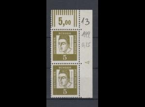 Berlin 199 senkrechtes Paar Eckrand rechts oben DZ 4 Bedeutende Deutsche 5 Pf **