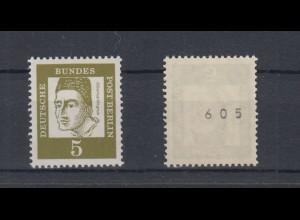 Berlin 199 RM ungerade Nummer Bedeutende Deutsche 5 Pf postfrisch