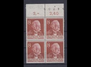 Berlin 94 Bogennummer im Oberrand 4er Block Männer d.Geschichte Berlins 8 Pf **
