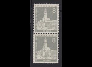 Berlin 143 wv senkrechtes Paar spitzer Ausgleichszahn versetzte Zähnung 8 Pf /2