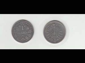 Silbermünze Kaiserreich 1 Mark 1878 F Jäger Nr. 9 /126