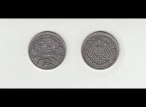 Silbermünze Kaiserreich 1/2 Mark 1905 A Jäger Nr. 16 /52