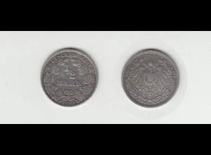 Silbermünze Kaiserreich 1/2 Mark 1905 A Jäger Nr. 16 /53