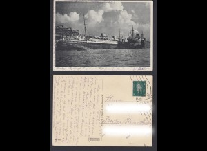 Ansichtskarte Hamburg Lloyddampfer Europa an der Werft 1930