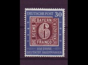 Bund 115 VI mit Plattenfehler 100 Jahre deutsche Briefmarken 30 Pf postfrisch