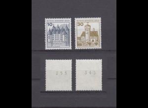 Berlin 532 II + 534 II Letterset EZM mit unger. Nr. Burgen+Schlösser 10+30 Pf **