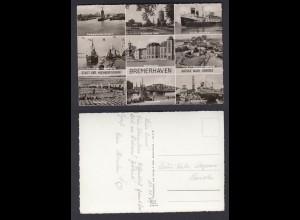 Ansichtskarte Mehrbildkarte Bremerhaven nicht gelaufen aber beschrieben
