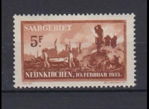 Saargebiet 170 Explosionsunglück in Neunkirchen 5 Fr postfrisch