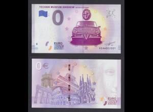 0 Euro Souvenir Schein XE AW 2019-5 DE Mythos Alfa Romeo