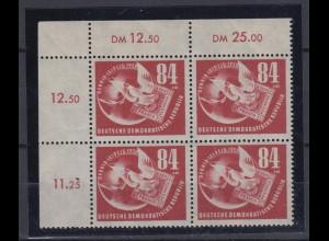 DDR 260 Eckrand links oben 4er Block 1. Juli DEBRIA Leipzig 84 Pf postfrisch