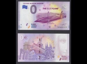 0 Euro Souvenir Schein XE AW 2020-6 DE The Blue Flame
