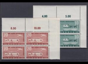 All. Besetzung Franz. Zone Baden 54-55 4er Bl. Eckrand rechts oben Briefmarken