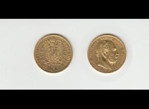 Goldmünze Wilhelm I. König von Preussen 10 Mark 1873 B