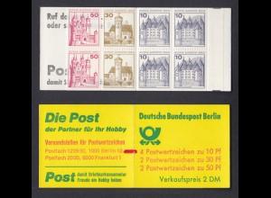 Berlin Markenheftchen 10b ZB Burgen + Schlösser 1977 postfrisch