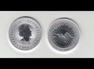 Silbermünze 1 OZ Australien Känguru 1 Dollar 2020