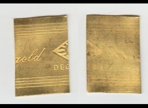 Goldband Feingold Blech 999,9 Degussa 13,6 Gramm
