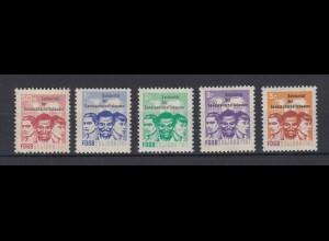DDR Spendenmarken FDGB Einzelmarken 5 Werte postfrisch