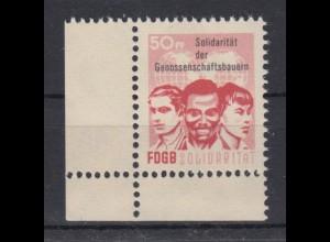 DDR Spendenmarken FDGB Eckrand links unten 50 Pf postfrisch