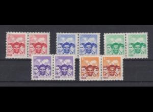 DDR Spendenmarken FDGB ohne Aufdruck waagerechte Paare 5 Werte postfrisch