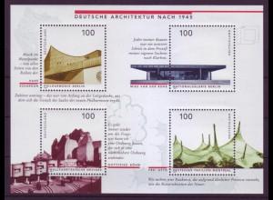Bund Block 37 I mit Plattenfehler Deutsche Arckitektur nach 1945 postfrisch