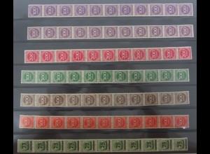 Dt. Reich 11er Stteifen ex 268a - 287a 7 Werte ungefaltet postfrisch