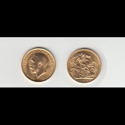 Goldmünze Großbritannien Georg V. 1 Sovereign 1911