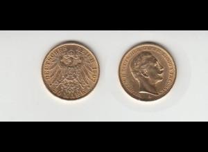 Goldmünze Wilhelm II. König von Preussen 20 Mark 1907 A