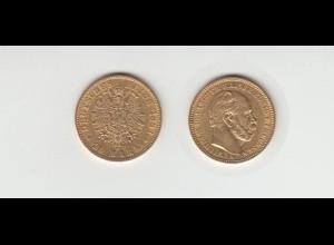 Goldmünze Wilhelm I. König von Preussen 20 Mark 1883 A