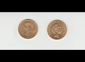 Goldmünze Wilhelm II. König von Preussen 10 Mark 1905 A