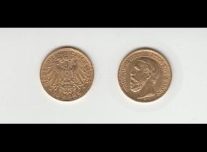 Goldmünze Friedrich I. König von Baden 10 Mark 1898 A
