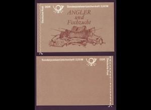 DDR Markenheftchen 9 v 1 Süßwasserfische 1988 postfrisch Format 118x76 mm