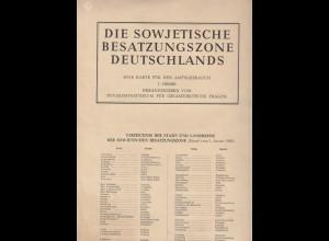 Sowjetische Besatzungszone Deutschlands Landkarte 1 : 1.000.000 von 1960