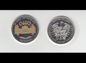 Medaille Reichstag 60 Jahre Deutschland 2009 in Kapsel / 12