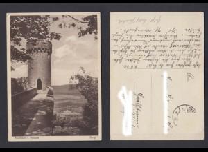 Ansichtskarte Auerbach in Hessen mit der Burg 1932