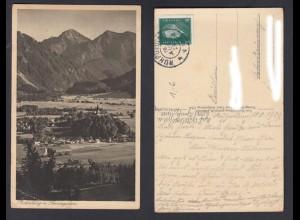 Ansichtskarte Ruhpolding mit Sonntagshorn gestempelt 1929