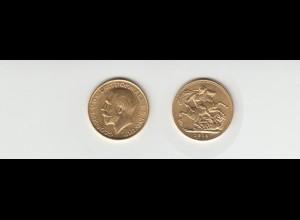 Goldmünze Großbritannien Georg V. 1 Sovereign 1913