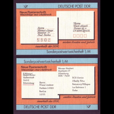 DDR SMHD 33 Postanschrift international mit 10x Mi.Nr. 3156 postfrisch