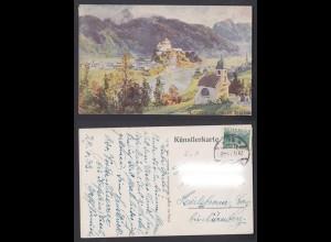 Künstlerkarte Kufstein von Hohen Staffing 1933