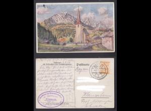 Ansichtskarte Filzmoos mit Rettenstein und Dachsteingruppe 1928