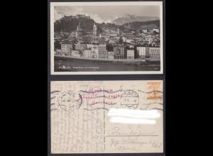 Ansichtskarte Salzburg Rudolfskai mit Untersberg 1928