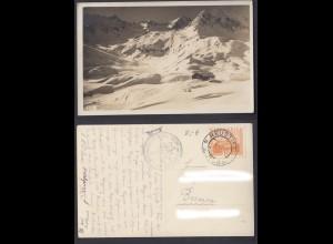 Ansichtskarte gestempelt Neustift im Stubaital Franz Senn Hütte