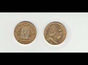 Goldmünze Frankreich Louis XVIII. 20 Francs 1819 A