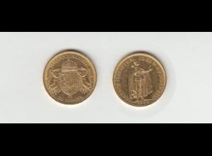 Goldmünze Ungarn Joseph I. 20 Kronen 1898