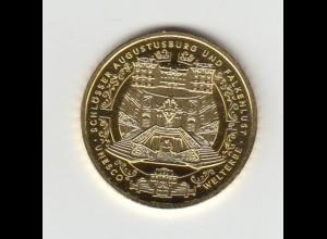Goldmünze 100 Euro 2018 UNESCO Weltkulturerbe Schlösser Augustusburg + Brühl