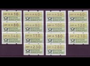 Bund ATM Tastensatz TS1 DBP 14 Werte postfrisch
