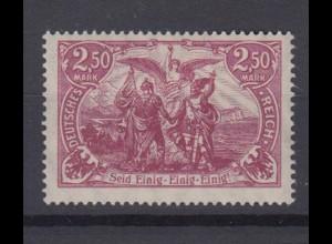 Deutsches Reich 115 f Einzelmarke Genius mit Fackel 2,50 M postfrisch