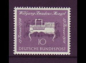 Bund 228 Wolfgang Amadeus Mozart 10 Pf postfrisch