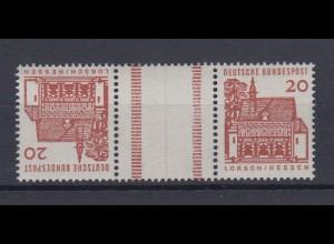 Bund 456 Zusammendruck K4 Paar mit Zwischensteg Bauwerke 20 Pf postfrisch